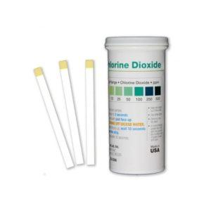 Tiras reactivas cloro dióxido 0-10-25-50-100- 250-500 ppm CHL-D500. Tubo 50 unidades