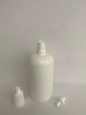 Botella plástico cuentagotas HDPE / tapón inviolable.